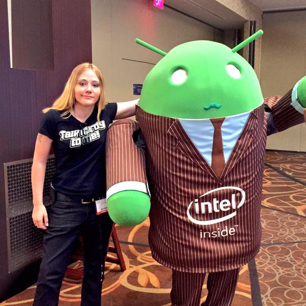 Peach Pellen at AnDevCon with Intel